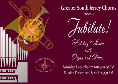 Jubilate! 90 Voices with Organ and Brass | Dec 17-18, 2016
