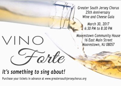 Vino Forte – 25th Anniversary Gala | March 30, 2017